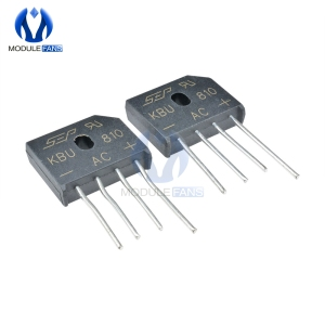 5PCS High Temperature Soldering Diy KBU810 KBU-810 8A 1000V Diode Bridge Rectifier Single Phase Bridge Rectifier Electronic
