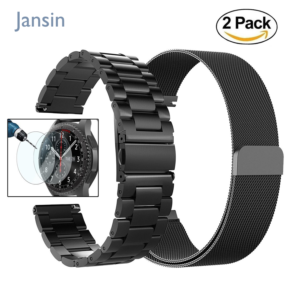 22mm Universal Milanese Loop band for Samsung Gear S3 Classic/S3 Frontier/galaxy watch 46mm Adjustable Stainless Steel Strap 22mm stainless steel watch bands for samsung galaxy 46mm bracelet strap for samsung gear s3 classic frontier sport band
