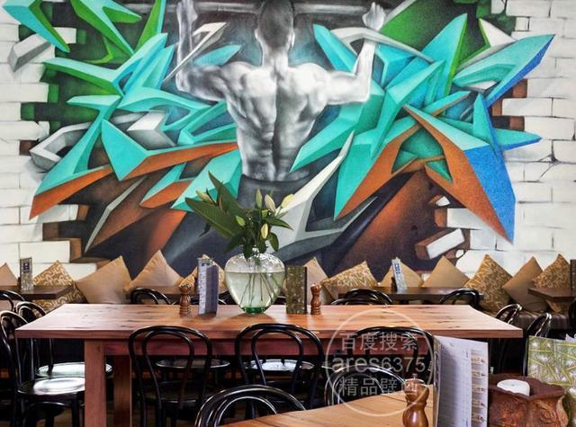 3d Photo Wallpaper Custom Retro Fashion Stereoscopi Living Room