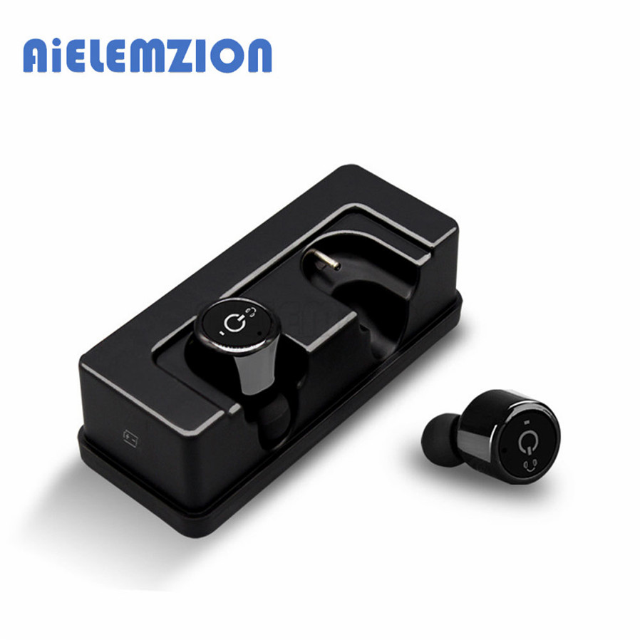 AiELEMZION X1T Plus Mini Invisible True Wireless Bluetooth Earphones Stereo Cordless CSR Earbuds with Microphone Charging Box композиция декоративная багровый пик