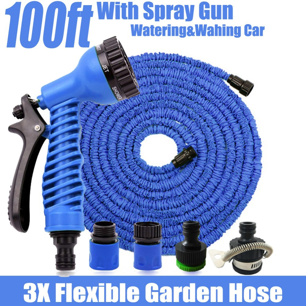 100 ft garden hose. magic hose 100ft flexible garden water hose+spray gun wash pipe retractable watering expandable hoses mangueira jardim 100 ft-in \u0026 irrigation from ft 0