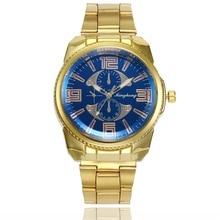 2019 Mens Gold Quartz Watch Top Brand Luxury Casual Fashion Business Alloy Relogio Masculino Saatler