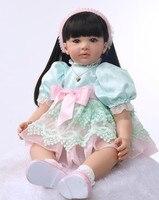 55 см силикона Reborn Baby Doll Игрушечные лошадки принцесса сладкий для малышей прекрасный подарок на день рождения Обувь для девочек Brinquedos лимити