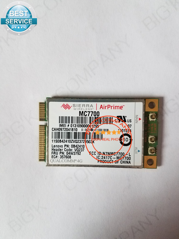 MC7700 Sierra Wireless GOBI4000 LTE Suit Japanese for thinkpad T430 T430S X230 T530 FRU 04w3792 in stock Free Shipping