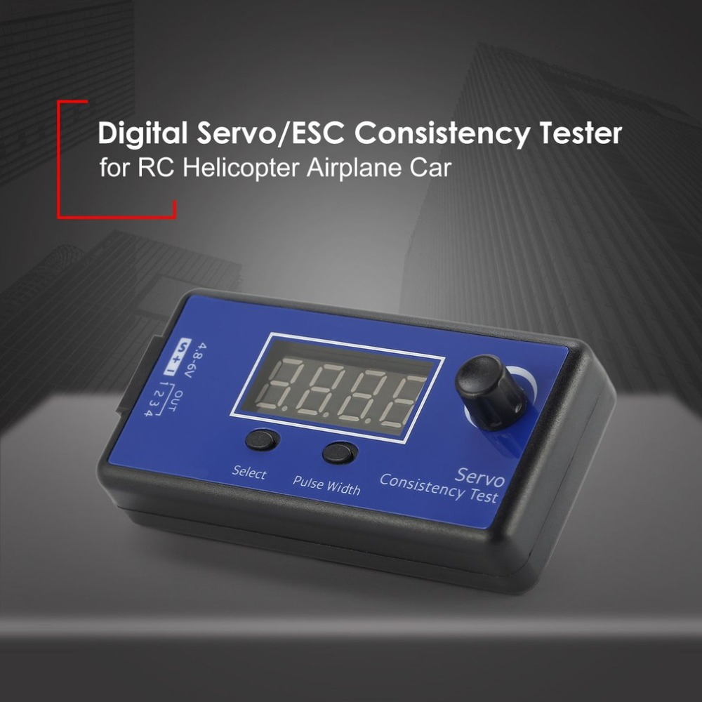 DC 4.8-6V Mini 3 Modes Digital Servo/ESC Consistency Tester Steering Gear Measurement for RC Helicopter Airplane Car Tool image