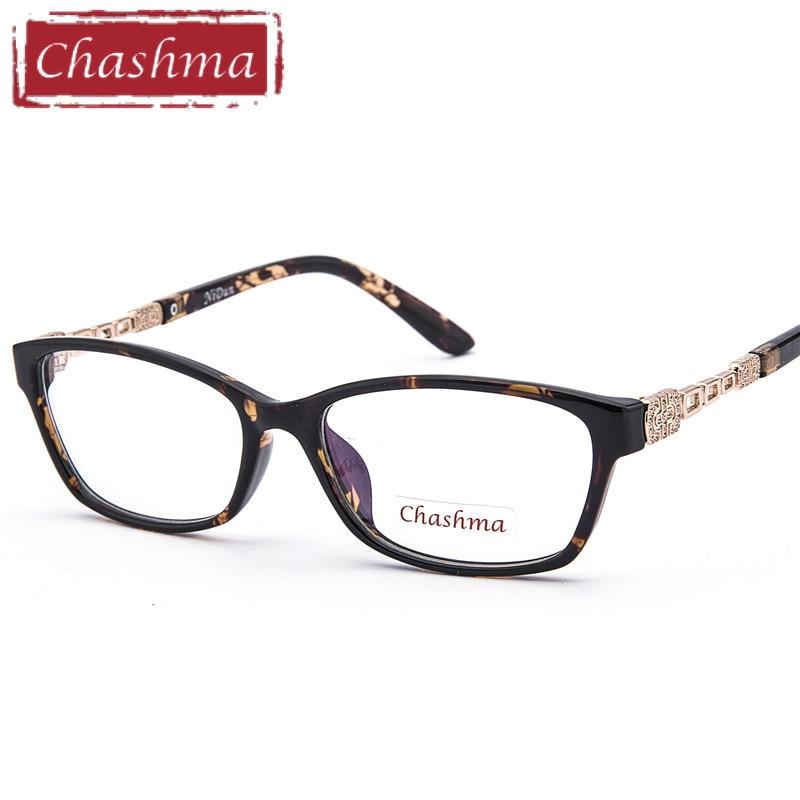 20d901836ad Chashma Fashion Stylish Design Tortoise Glasses Frames Women Prescription  Glasses Frame Transparent Glasses