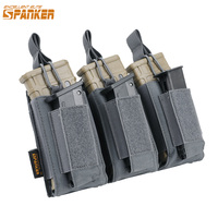 EXCELLENT ELITE SPANKER Tactical Molle Triple Magazine Pouches AK M4 Pistol Bag Military Army Paintball Game Accessories