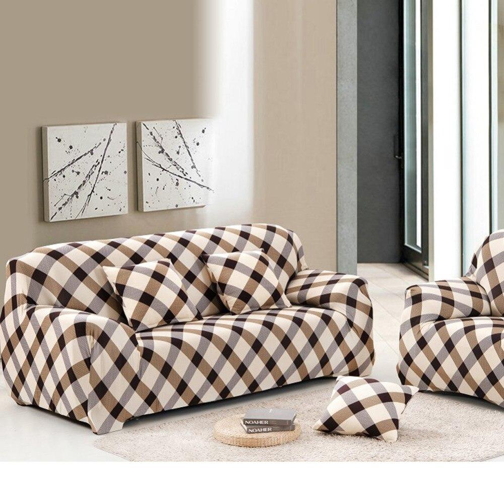 unids spandex sof cubierta sof fundas de la rejilla de tela arte impreso cubierta tramo
