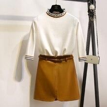2016 new winter half Korean flounce turtleneck stripe color knitted pullover slim