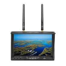 Free shipping! LCD5802D 5.8G 40CH 7″ FPV Video Ground Monitor w/ DVR Build-in Battery
