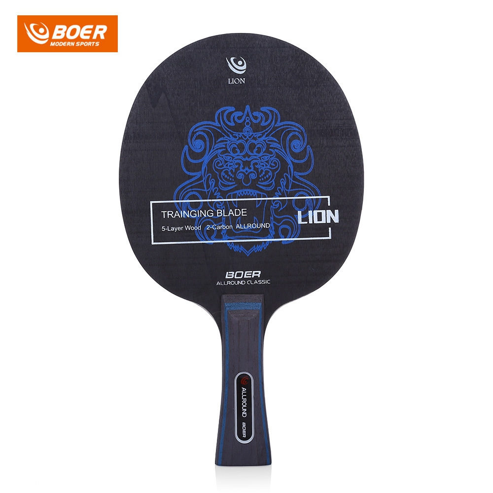 Outdoor Lion Pattern Table Tennis Ping Pong Racket Training Blade