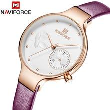 Naviforce Women Watches Luxury Brand Leather belt Ladies Quartz Wrist