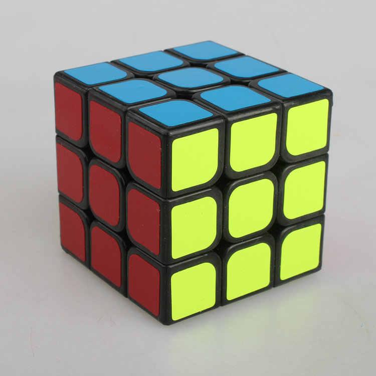 YJ Yongjun さんゆう 3 × 3 × 3 マジックキューブ黒カラフルなボックスユーロン