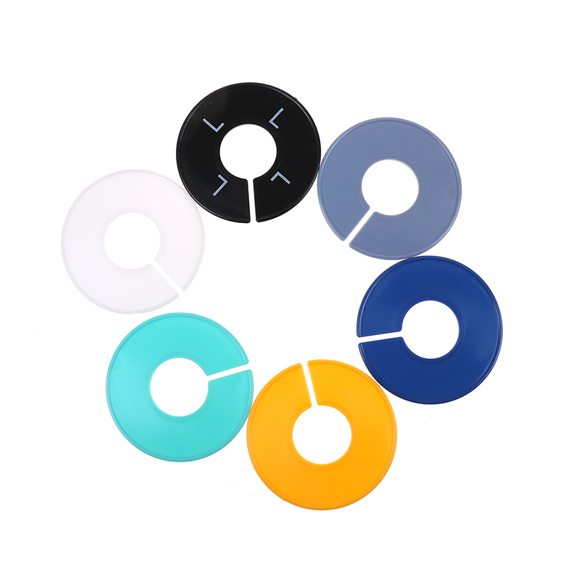 5pcs/lot Round Rack Ring Size Dividers Blank Plastic Clothing Fits Round Or Square Tube Garment Tags Size Marking Ring Apparel Sewing & Fabric Arts,crafts & Sewing