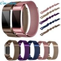 Fitbit Şarj OMESHIN Milanese Paslanmaz Çelik Watch Band Kayış Bilezik + HD Film Için Fitbit Şarj 2 Dec6
