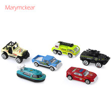1/64 Diecast Model Mini Car Vehicles Toy Car Model 6 pcs/set Children Toys Land Cruiser Car Toys for Kid Boys Toy truck(China)