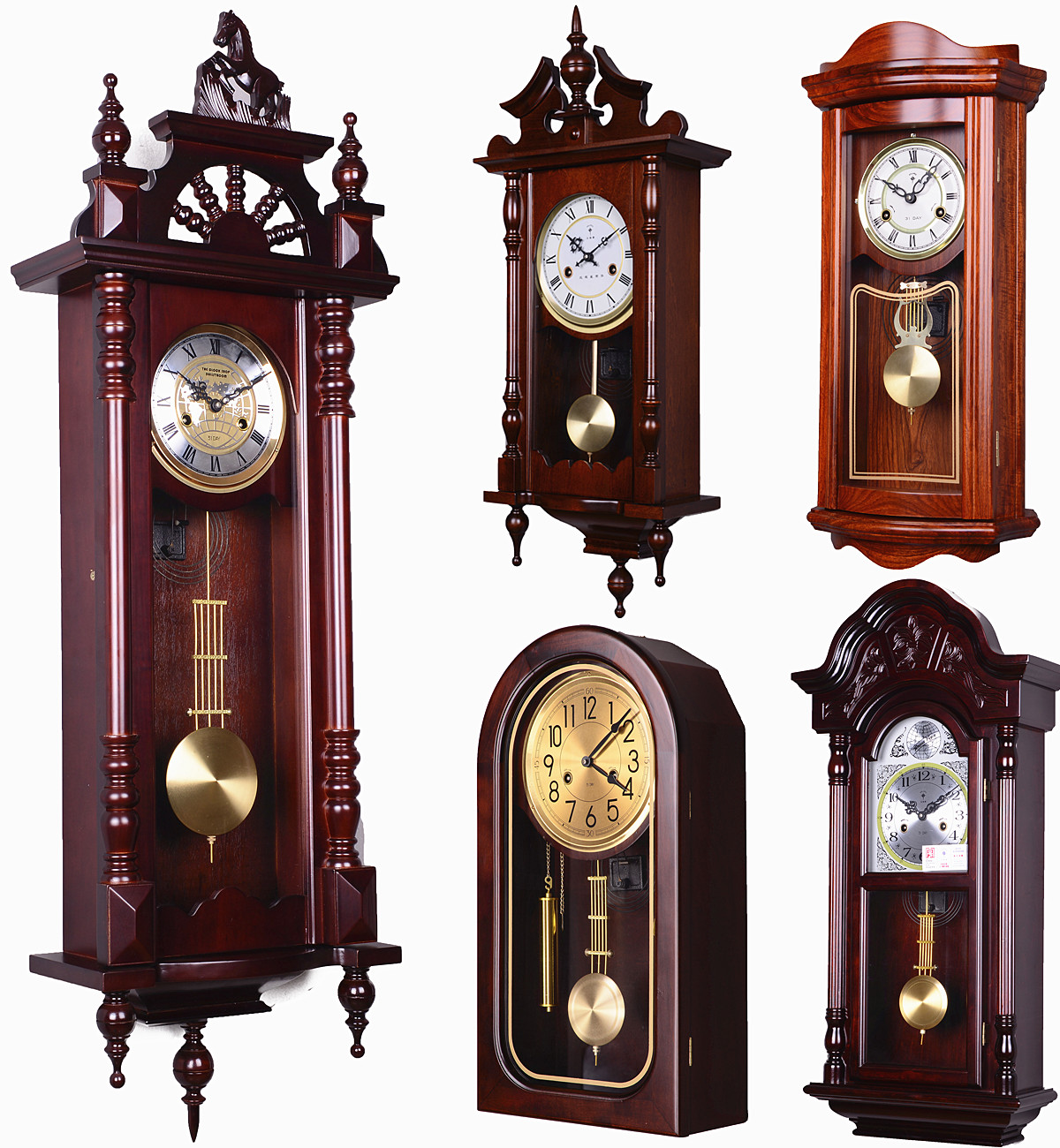 Vintage Wood Wall Clock Living Room Feng Shui Town House Mechanical Timekeeping Pendulum Clocks Stop For North Copper Movement In Desk Table From