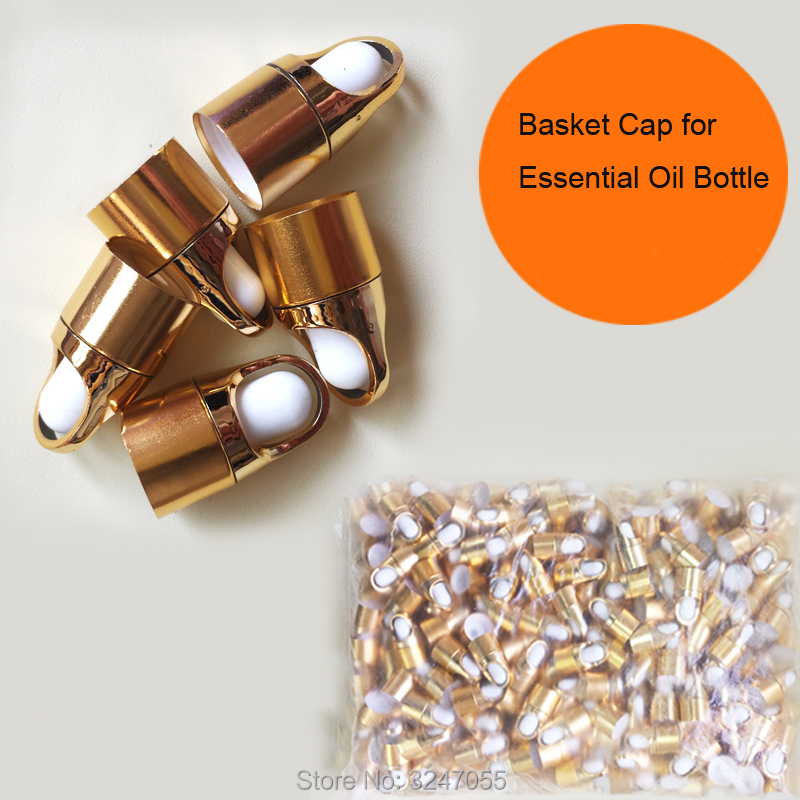 50Pcs100Pcs200Pcs500Pcs Empty Gold Basket Cap for Essential Oil Bottle, High Quality Plastic 18mm Bottle Lid, Makeup Accessories 1000mg 100 pcs fish oil bottle for health capsules omega 3 dha epa with free shipping