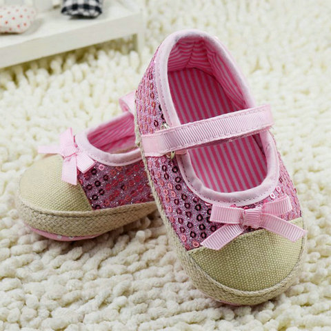infant toddler shoes baby girls shoes bebe shoes first walkers crib  shoes kids shoes breathable Sequin Pakistan