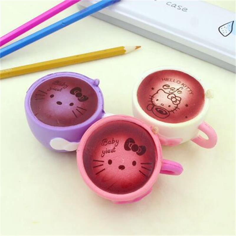 Squishy cartoon hello kitty cups Squeeze Toys Novelty & Gag Toys Stress Relief toys Practical Jokes Fun Surprise Popular Toys