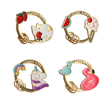 2019 New Hot Fashion Cartoon Cat Unicorn Ice Cream Swan Fruits Cute/Lovely Original Feautiful Key Chains 6203