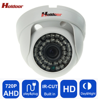 AHD 720P HD Plastic Shell Mini Dome Analog AHD CCTV Camera Indoor IR CUT Night Vision