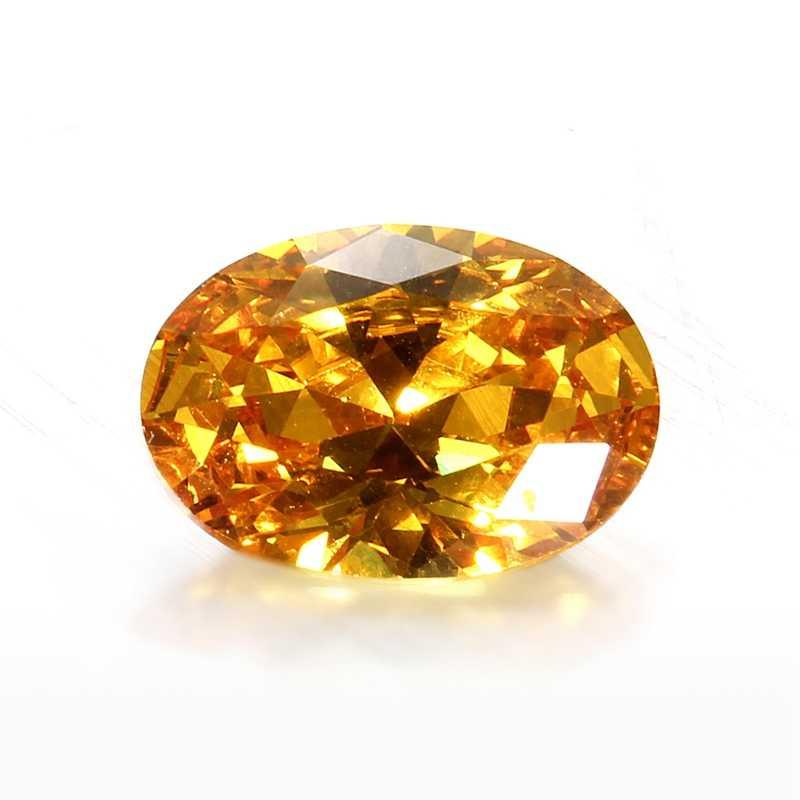 KiWarm 10x14mm Unheated Gem Yellow Sapphire Oval Shape AAA Natural Loose Gemstone Diamond DIY Jewelry Wedding Decorative Crafts