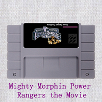 Mighty Morphin Power Rangers The Movie 16 Bit Big Gray Game Card For NTSC Game Player