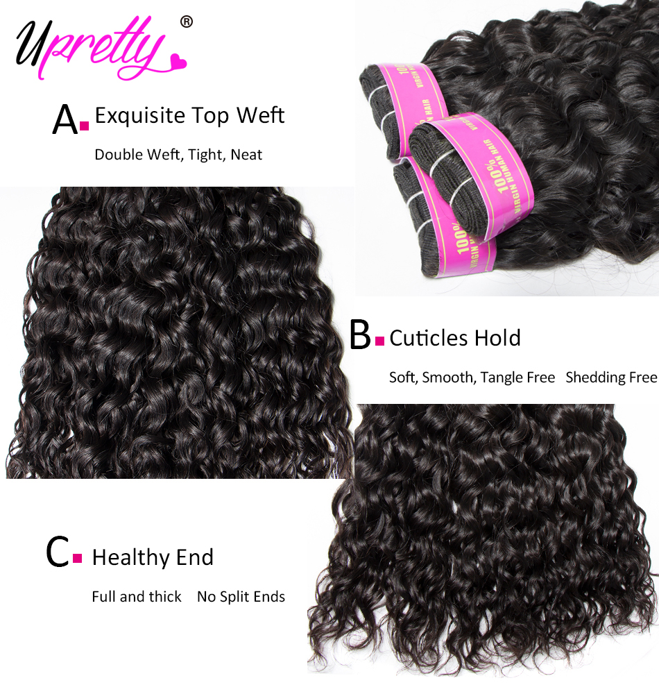 HTB1Muyty5CYBuNkHFCcq6AHtVXan Upretty Hair Water Wave Bundles With Closure Wet And Wavy Human Hair 3 Bundles With Closure Mink Brazilian Hair Weave Bundles