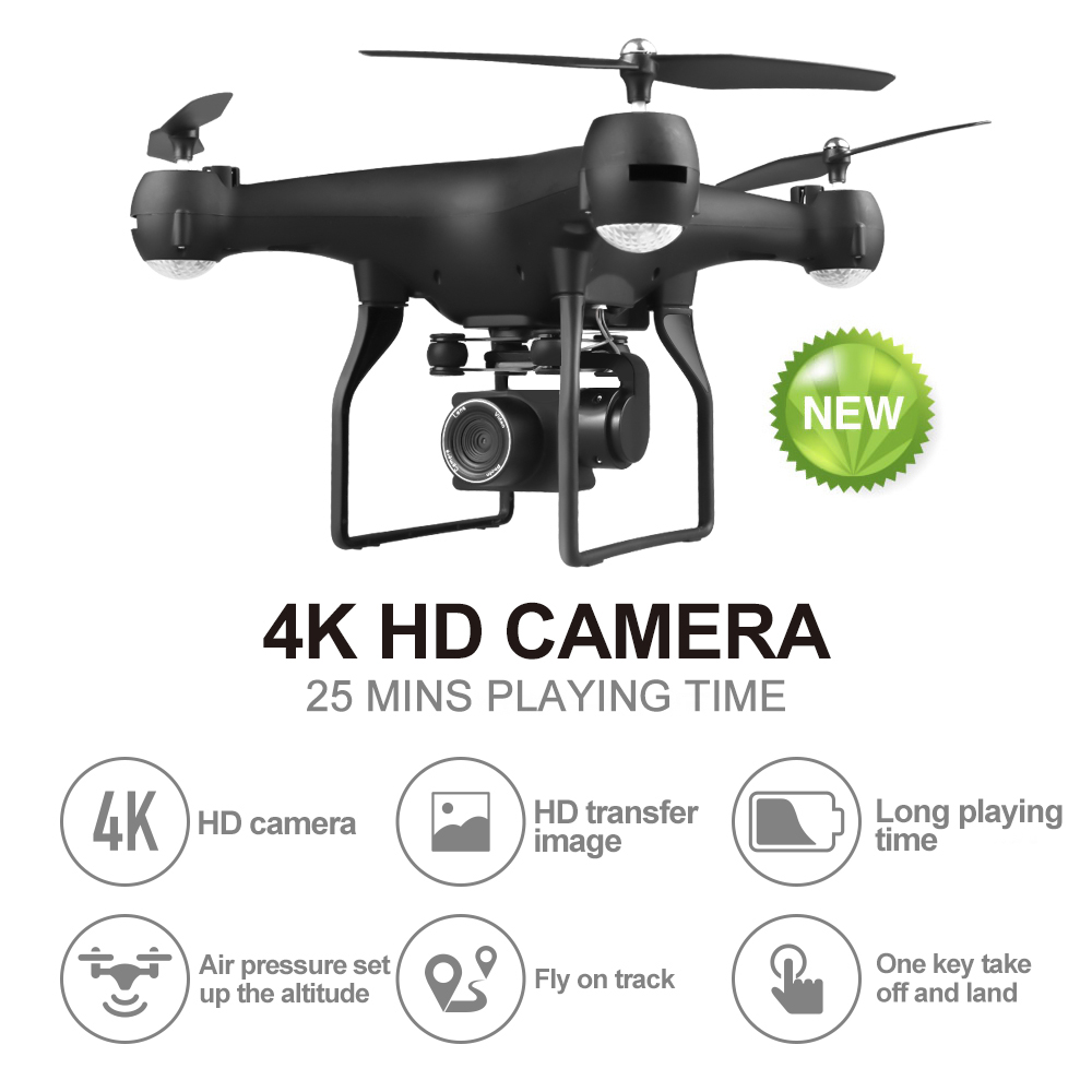 EBOYU F68 WiFi FPV RC Drone 4K / 1080P Wide Angle Adjustable ESC HD Camera Altitude Hold RC Quadcopter Drone -25min Flight Time