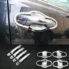 For TOYOTA RAV4 2014 Accessories Chrome Trim Chromium Styling Door Handles Cover Stickers Exterior Decoration Car