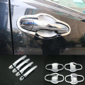 for TOYOTA RAV4 2014 Accessories Chrome Trim Chromium Styling Door Handles Cover Stickers Exterior Decoration Car Styling