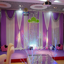 2018 Lastest 3M x 6M Luxury Wedding Backdrop Stage curtain with Bling Shiny swags and drapes Wedding Decoration