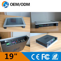 Silver 19 Inch Industrial Panel Pc Industrial Touch Screen Pc With PCI