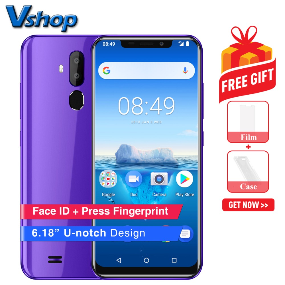 Original OUKITEL C12 Pro 4G Mobile Phone Android 8.1 2GB RAM 16GB ROM Quad Core Smartphone 3300mAh 6.18 inch 18:9 HD Cell Phone-in Cellphones from Cellphones & Telecommunications    1