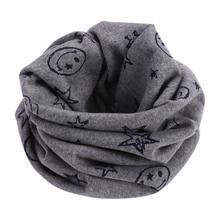 Новинка; Детский шарф; шарфы; теплые петли; шейный платок со смайликом и звездами; зимняя шаль; зимний кашемировый шарф; хиджаб