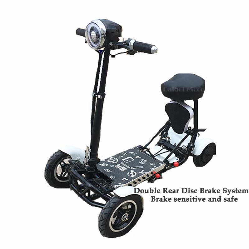 Daibot Electric Elderly Scooter 4 Wheels Electric Scooters 10 Inch 500W Foldable Electric Scooter For Disabled Blue/Black/Red