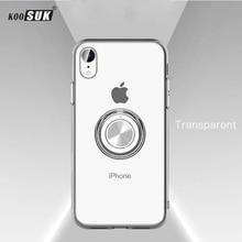 Чехол для iPhone X, роскошная Прозрачная мягкая силиконовая защита из ТПУ, кольцо для iPhone 11 Pro Max, чехол XR XS 6 6S 7 8 Plus, чехол