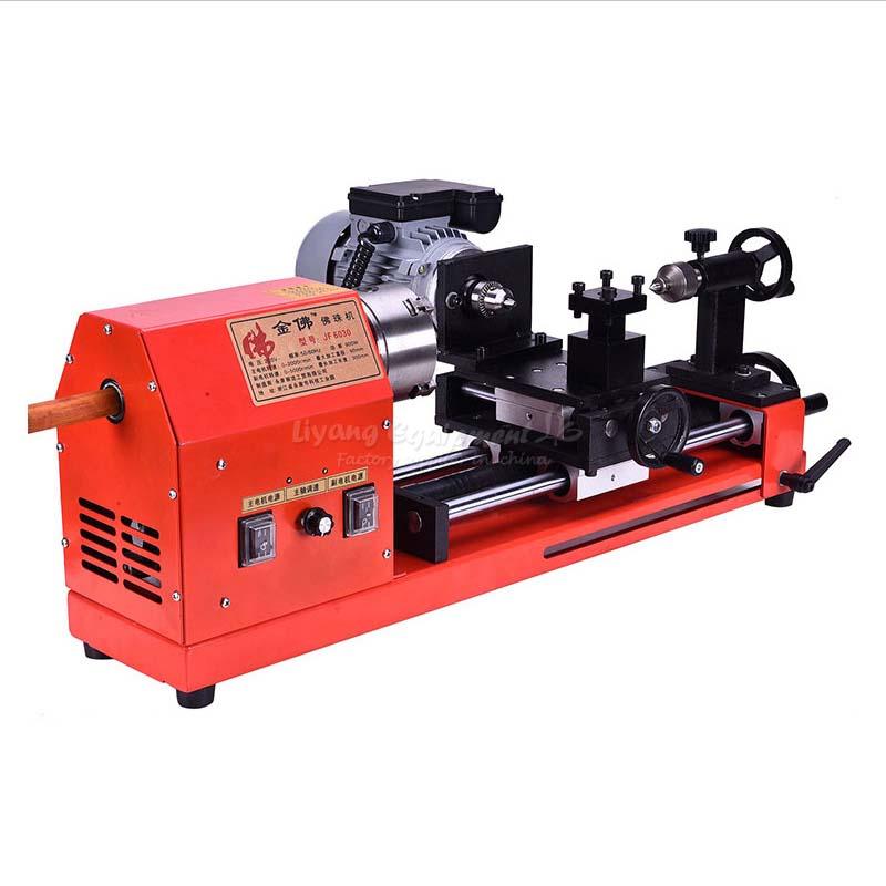 Мини Деревообработка токарные станки машины деревянные бусины обработки рука строка миниатюрный машина Buddha JF 6030