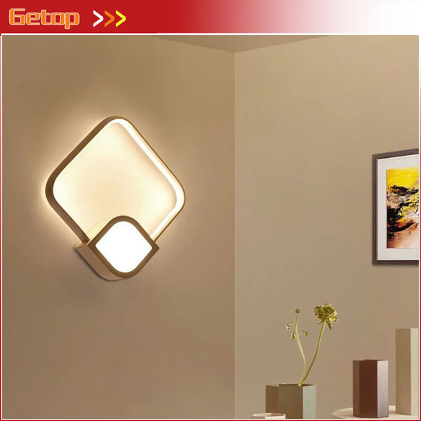 Modern Minimalist LED Bedside Wall Lamp Nordic American Creative Staircase Corridor Bedroom Living Room Restaurant Wall Lamp creative bedside wall lamp modern minimalist rectangular corridor balcony living room bedroom background lighting fixture