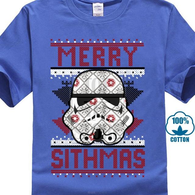 718d7d5e Merry Sithmas T Shirt Men Star Wars T-Shirt Christmas Sweater Tshirt Short  Sleeve Tops Stormtrooper Printed Tee Funny Gift