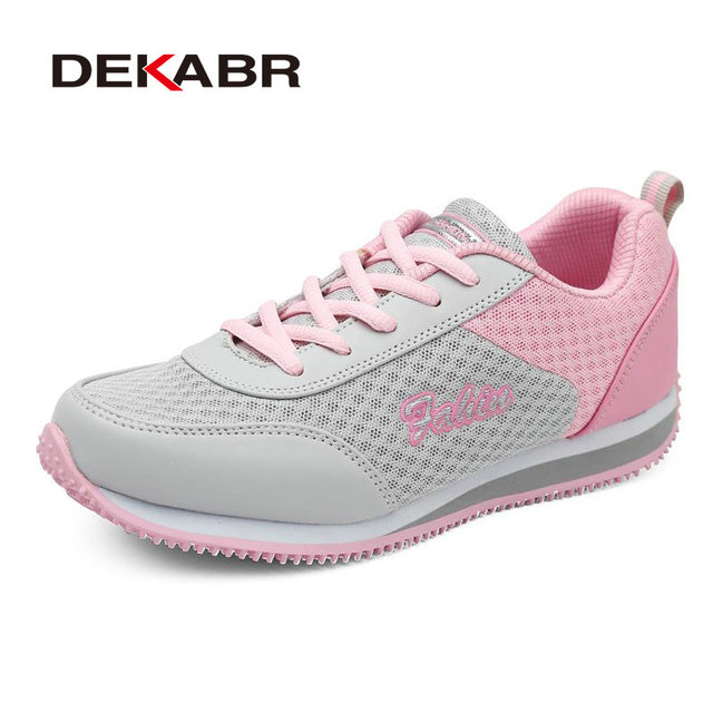 DEKABR Fashion Walking Women Trainers Breathable Shoes Mesh 2016 Spring Summer New Styles Casual Shoes Woman Zapatos Mujer