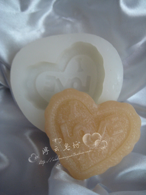 Handmade soap diy candle you translucent silica gel mould case mould