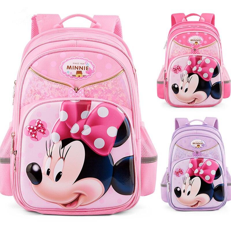Cartoon enfants sac marque orthopédique école sac à dos enfants Minnie sacs d'école pour les filles mignon cartable mochila sac enfant fille
