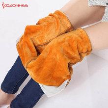 Elastyczność Kaszmir ciepłe dżinsy dla kobiet duże czarne dżinsy z wysokiej talii elastyczny pas dżinsy damskie zimowe dżinsy dla kobiet tanie tanio Spodnie do kostki Spodnie ołówkowe Pasek z kozonhee Szczupła Sznurkiem Spandex bawełna KOZONHEE-ciepłe dżinsy #08