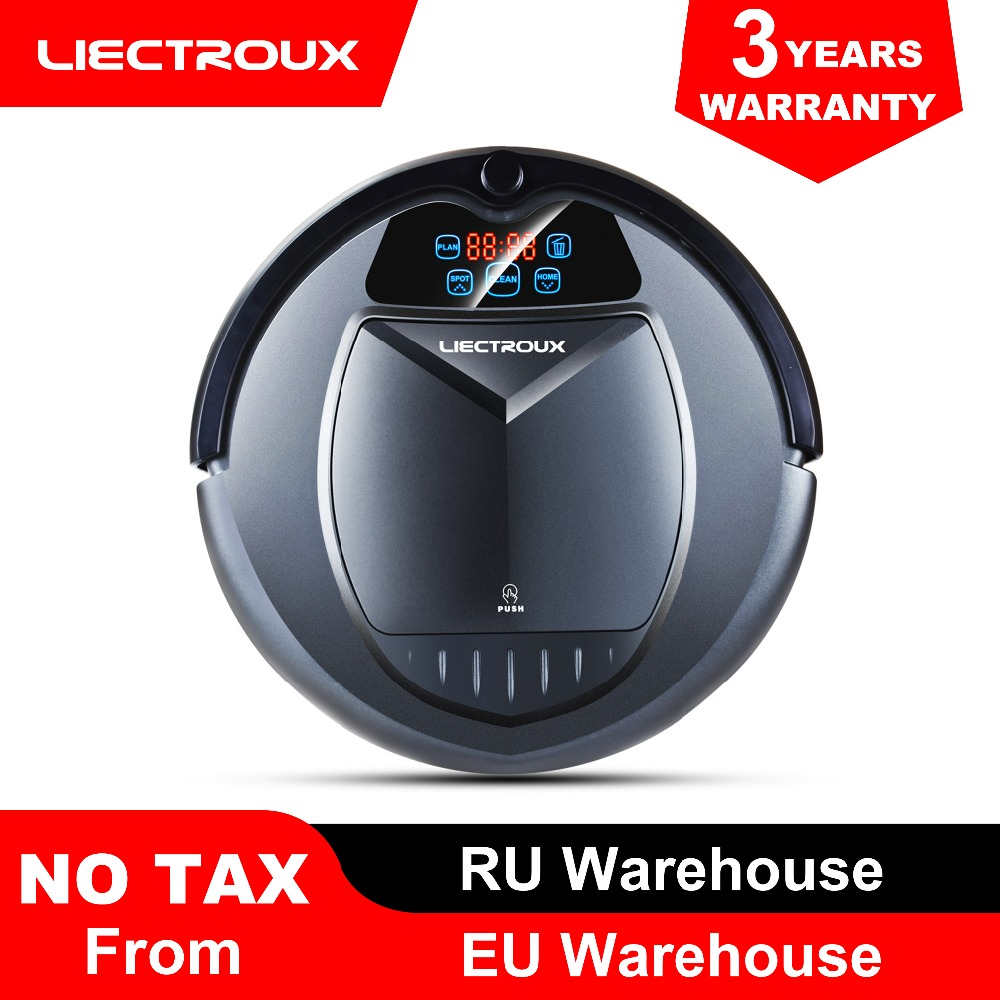 (FBA warehouse)LIECTROUX B3000 Robot Vacuum Cleaner,Schedule,Virtual Blocker,Self Charge,Remote Control,Low Price for Home