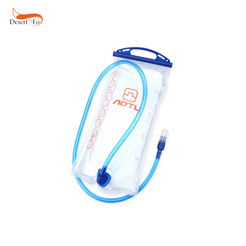 2L Water Bag Wide Mouth Bag EPPE Material with Straw Water Sac Riding Portable for Outdoor Rafting Hiking Camping