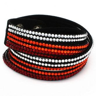 Snelle gratis verzending multilayer lederen armband crystal wrap - Mode-sieraden - Foto 2