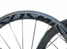 цена на good price width 23mm chinese carbon road bike clincher wheelset 50mm custom paint sticker basalt brake surfcae ceramic