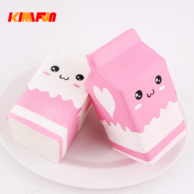 Antistress Lovely Squishy Toys Cute Milk Box Squishies Slow Rising Toy Scented Sweet Charms Kids Gift Toy